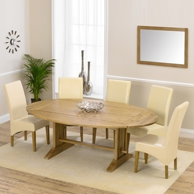 Carver Oak Oval Extending Dining Table With 8 Rome Chairs – Robson Inside Oval Extending Dining Tables And Chairs (Image 8 of 25)