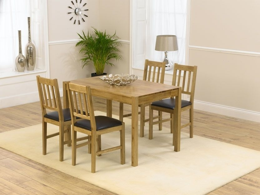 Casa Oak Dining Sets Are Fantastic Value Without Compromising On Regarding Oak Dining Tables And 4 Chairs (Image 9 of 25)