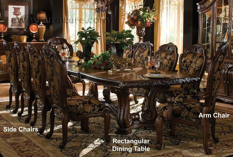 Casablanca Rectangular Dining Table With Rectangular Dining Tables Sets (Image 8 of 25)