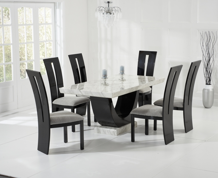 Casalivin St Veep Black Or Brown High Gloss Dining Chair With Regard To Black Gloss Dining Sets (Image 8 of 25)