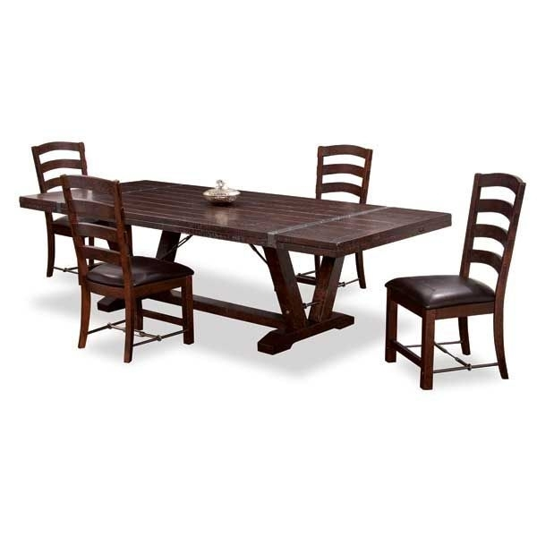 Castlegate 5 Piece Dining Set D942 5Pc American Furniture Warehouse For Jaxon 5 Piece Extension Counter Sets With Wood Stools (Image 9 of 25)