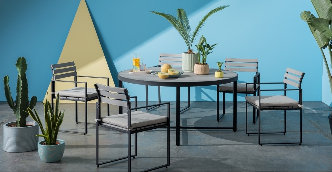 Catania Round 6 Seater Dining Table, Polywood | Made With Round 6 Seater Dining Tables (Image 8 of 25)