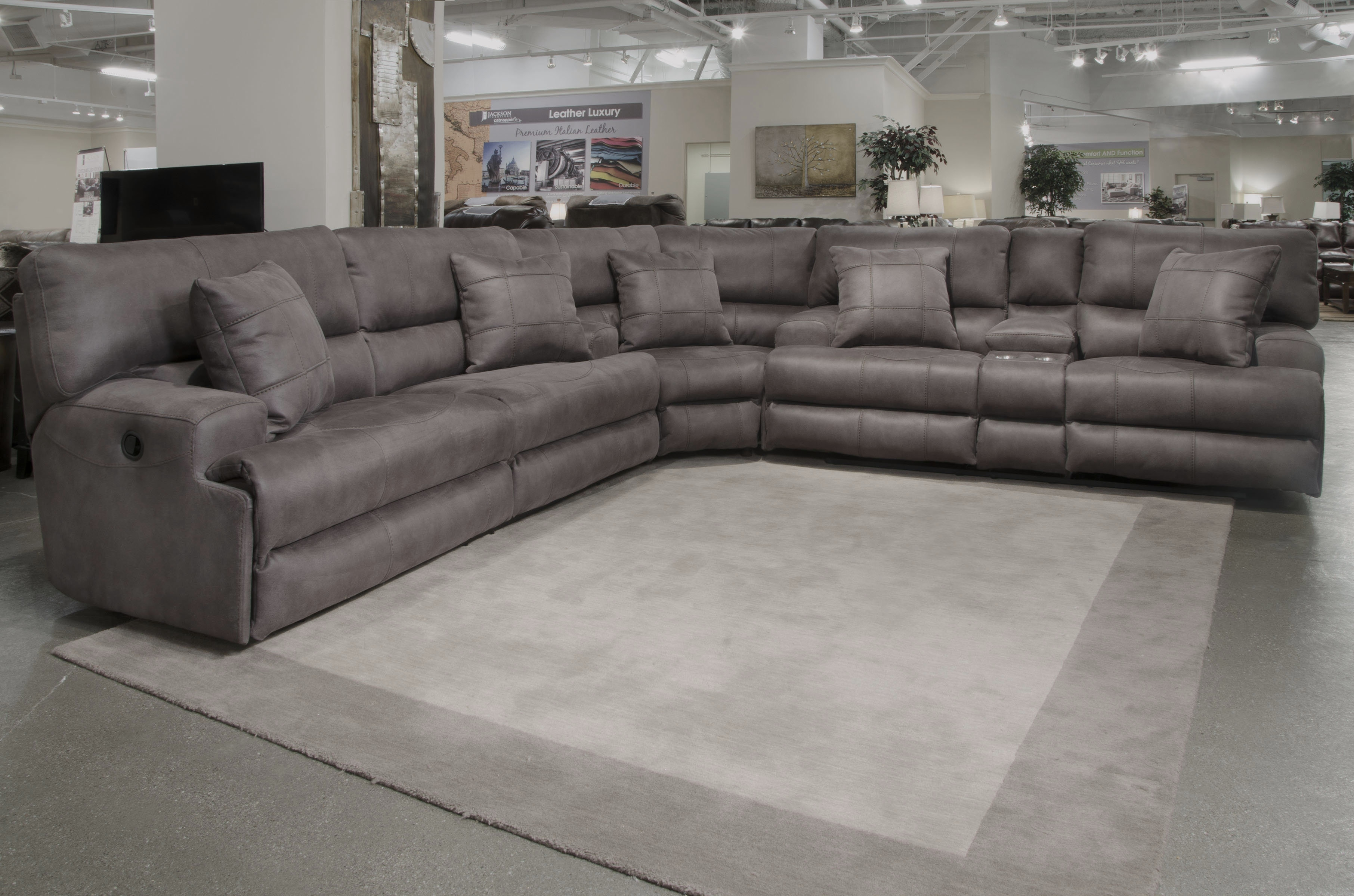 Catnapper Monaco Reclining Sectional | Wayfair Inside Jackson 6 Piece Power Reclining Sectionals With  Sleeper (Image 11 of 25)