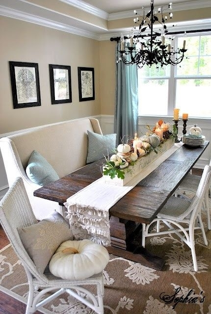 Centerpieces And Table Decors Capture Fall's Beauty | Interior Decor Pertaining To Market 6 Piece Dining Sets With Host And Side Chairs (Image 4 of 25)