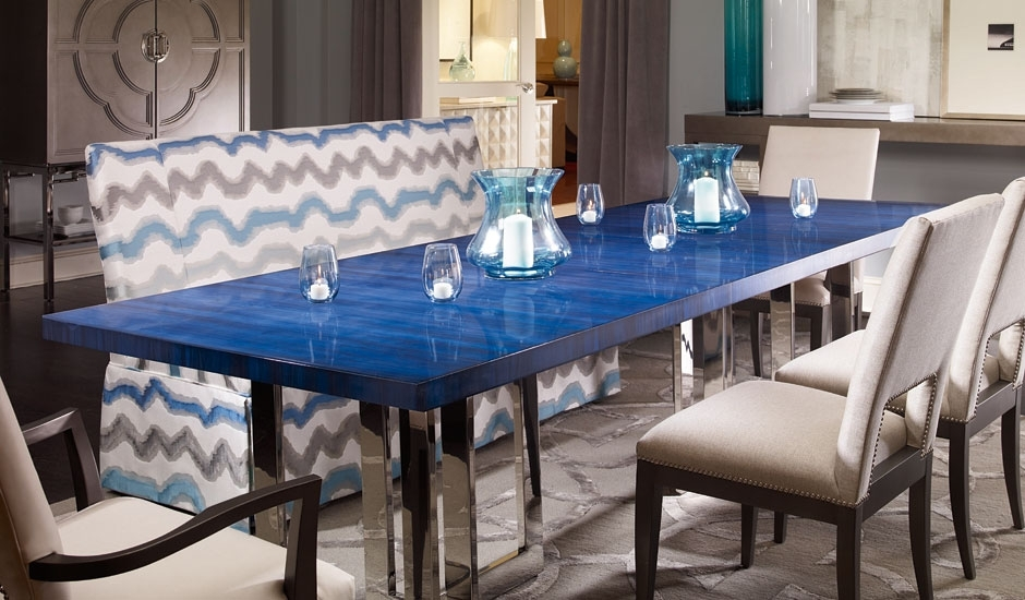 Century Furniture: Highest Quality Home Furnishings With Blue Dining Tables (Image 7 of 25)