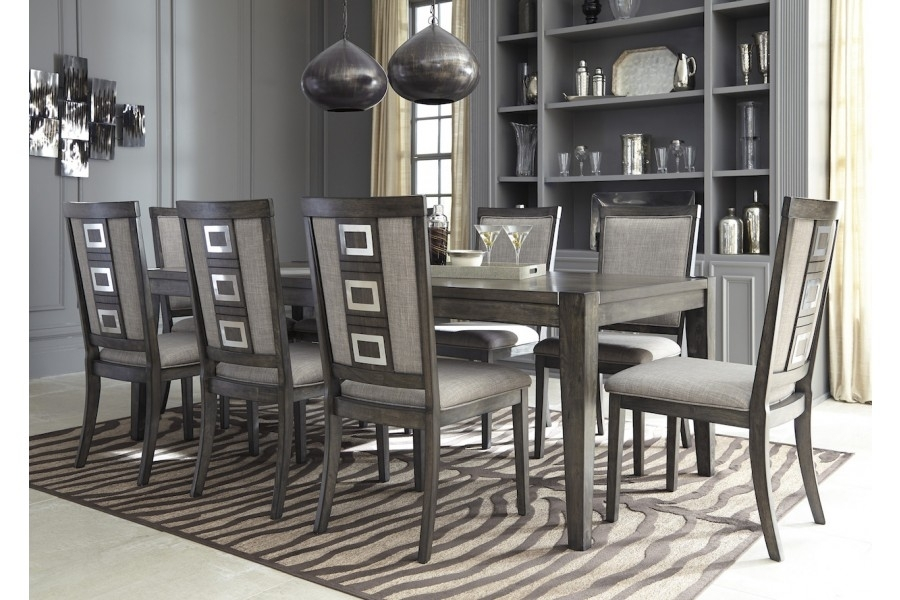 Chadoni 9Pc Dining Setashley Furniture D624 | Home Elegance Usa For Caira 9 Piece Extension Dining Sets (View 15 of 25)