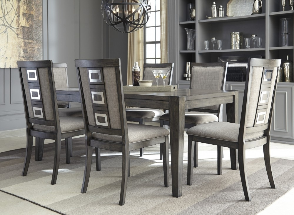 Chadoni Rect Dining Table & 6 Uph Side Chairs | D624/35/01(6 For Market 6 Piece Dining Sets With Side Chairs (View 23 of 25)