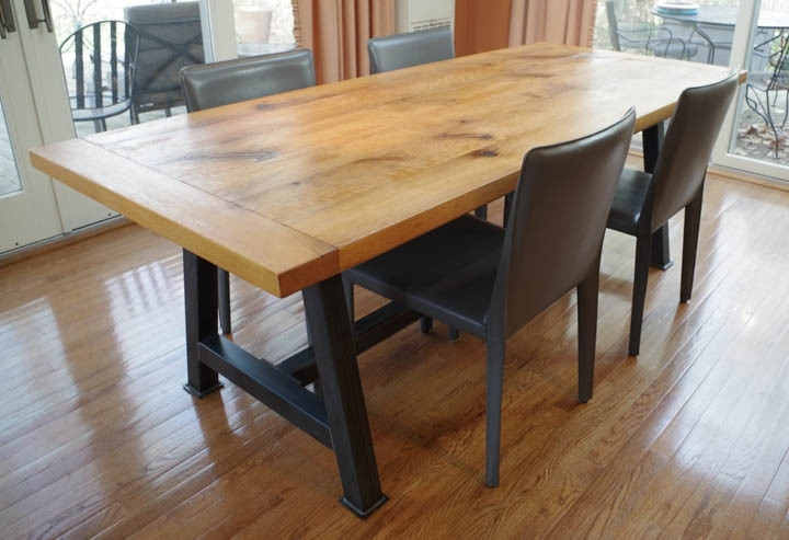 Chagrin Valley Custom Furniture – Rustic Oak Dining Table With Regard To Rustic Oak Dining Tables (Image 2 of 25)