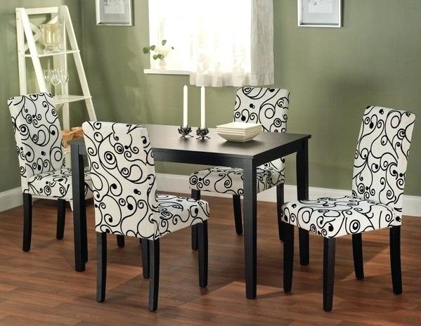 Chair And Dining Table Awesome Patterned Room Chairs Libra Modern Within Dining Tables And Fabric Chairs (Image 7 of 25)