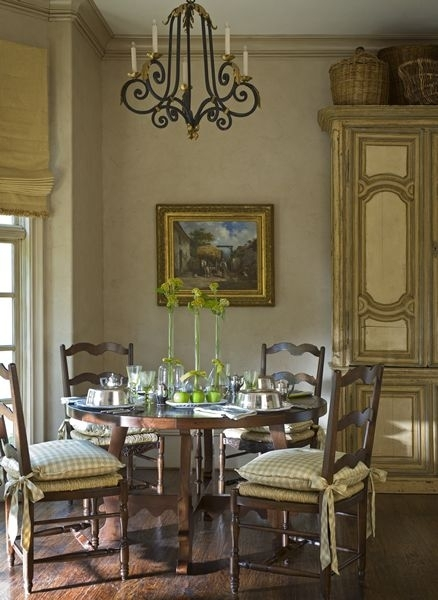 Chair Cushions With Big Ties | French Country | Pinterest | Dining In Palazzo 7 Piece Dining Sets With Pearson Grey Side Chairs (View 9 of 25)