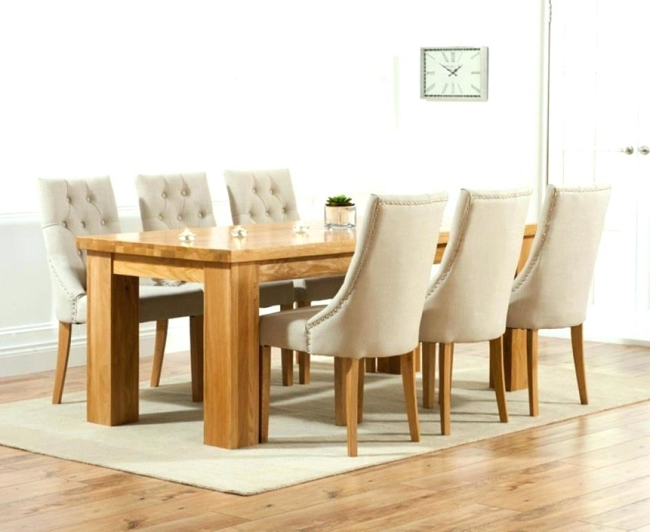 Chair Dining Table – Bunu Pertaining To Oak Dining Tables And Fabric Chairs (Image 7 of 25)