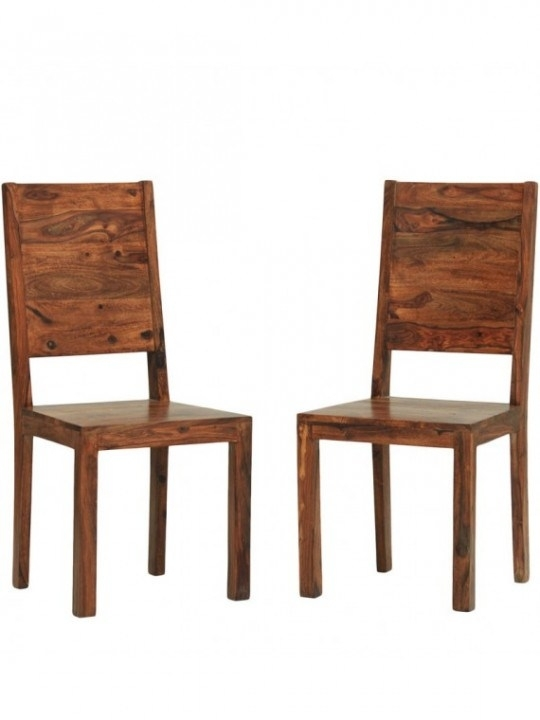 Chairs – Dallas Sheesham Wood Dining Chair (Set Of 2) In   Angel Pertaining To Sheesham Wood Dining Chairs (Image 6 of 25)