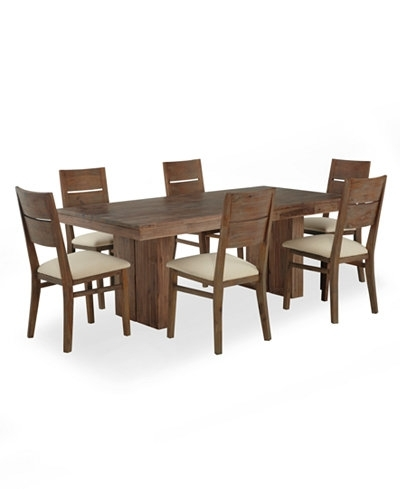 Champagne Dining Room Furniture 7 Piece Set Created For Macy S Inside Macie 5 Piece Round Dining Sets (View 10 of 25)