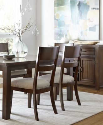 Chandler Dining Furniture Collection   For My Condo!   Pinterest Within Chandler 7 Piece Extension Dining Sets With Fabric Side Chairs (Image 3 of 25)