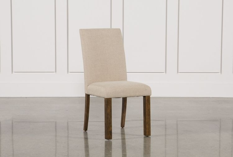 Chandler Fabric Side Chair Intended For Jaxon Grey 5 Piece Extension Counter Sets With Fabric Stools (Image 2 of 25)