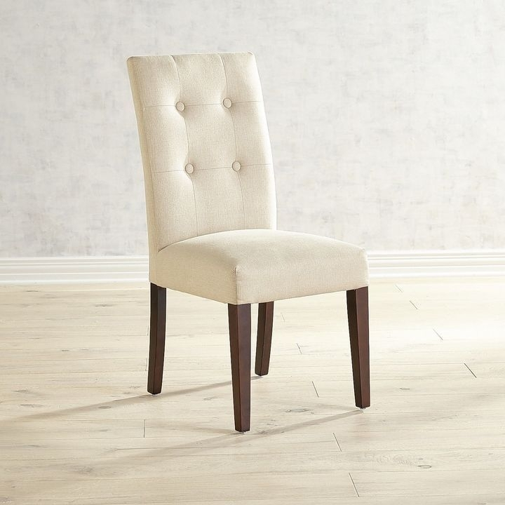 Chandler Fabric Side Chair Regarding Combs 7 Piece Dining Sets With  Mindy Slipcovered Chairs (Image 5 of 25)
