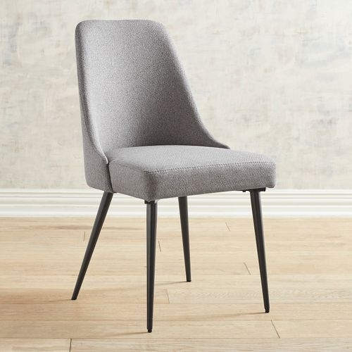 Chandler Fabric Side Chair With Regard To Combs 7 Piece Dining Sets With  Mindy Slipcovered Chairs (Image 7 of 25)