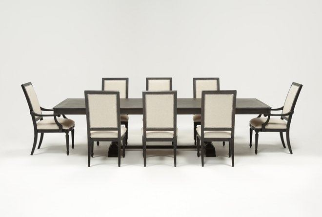 Chapleau 9 Piece Extension Dining Set | Living Spaces Regarding Chapleau Ii 7 Piece Extension Dining Tables With Side Chairs (View 2 of 25)