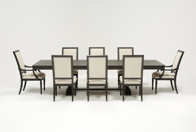 Chapleau 9 Piece Extension Dining Set | Living Spaces With Regard To Chapleau Extension Dining Tables (Image 6 of 25)