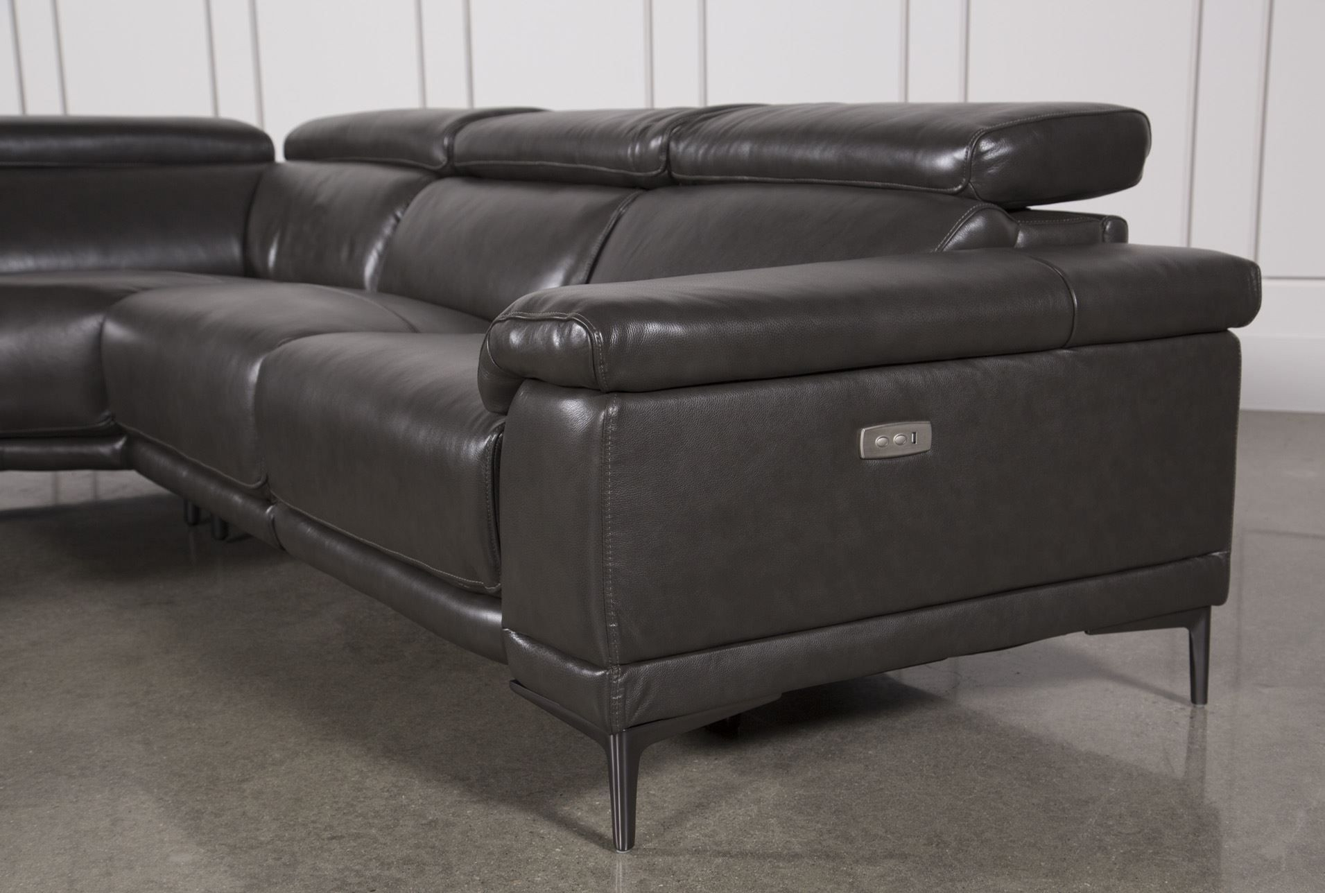 Charcoal Grey Leather Sofa Inspirational Sofa Navy Blue Leather Sofa With Tatum Dark Grey 2 Piece Sectionals With Raf Chaise (Image 2 of 25)