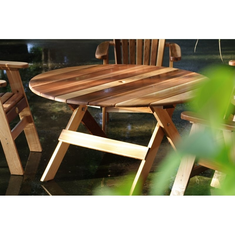 Charlton Home Macie Round Wooden Dining Table | Wayfair Regarding Macie Round Dining Tables (View 2 of 25)