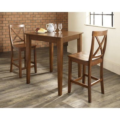 Charlton Home Pershore 3 Piece Pub Table Set In 2018   Products For Palazzo 3 Piece Dining Table Sets (Image 7 of 25)