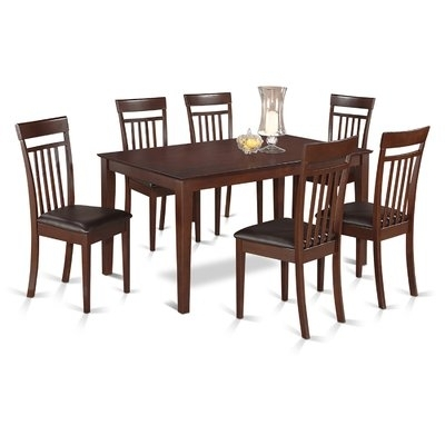 Charlton Home Smyrna 7 Piece Dining Set In 2018 | Products Inside Market 7 Piece Dining Sets With Host And Side Chairs (Image 8 of 25)