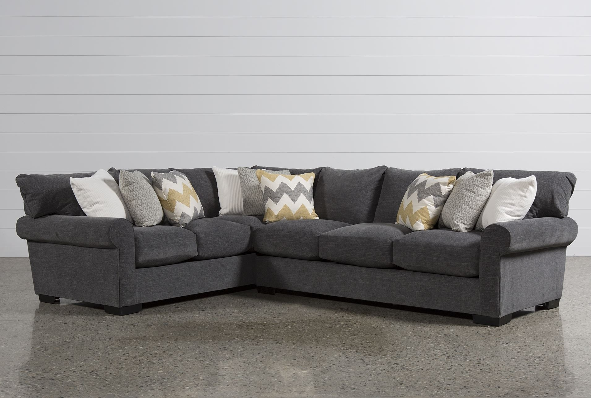 Charming 2 Piece Sectional Sofa On Aurora 2 Piece Sectional Living For Evan 2 Piece Sectionals With Raf Chaise (Image 9 of 25)