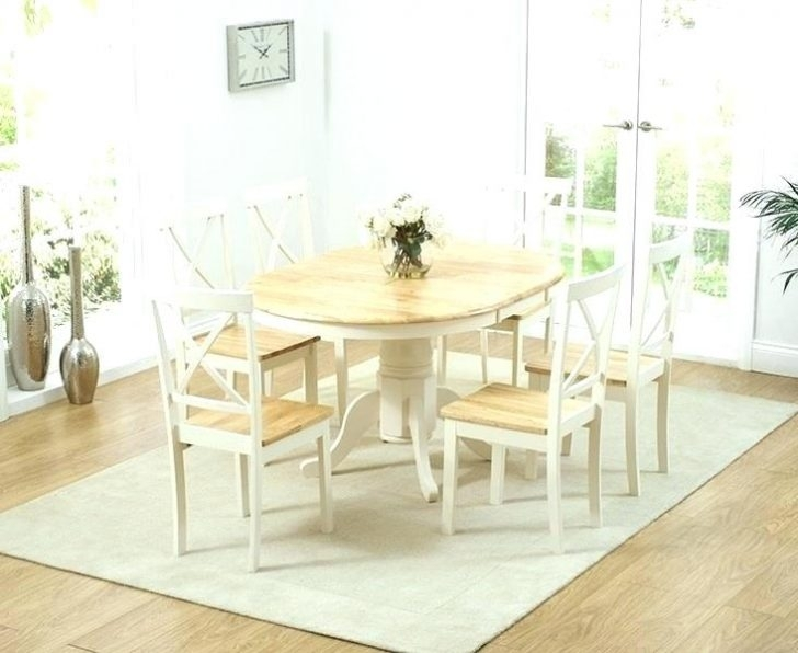 Charming Cream Oak Dining Table And Extending Small Tables Regarding Cream And Oak Dining Tables (Image 5 of 25)