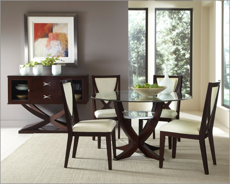 Charming Dining Room Sets For Great Small Table At 4 Cozynest Home Within Small Round Dining Table With 4 Chairs (Image 2 of 25)