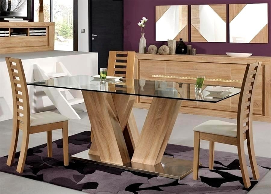 Charming Oak Glass Dining Tables Ideas G Tables Ideas Glass And Wood Throughout Oak Glass Dining Tables (Image 10 of 25)