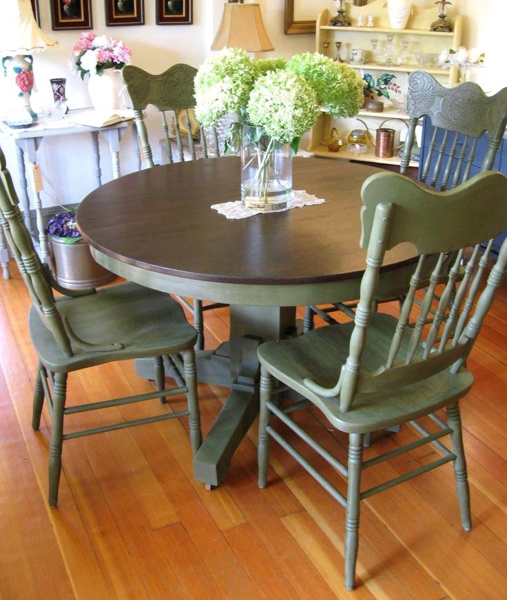 Charming Top Dining Room Sets Cute Table Base Painted Kitchen Tables Pertaining To Painted Dining Tables (Image 5 of 25)
