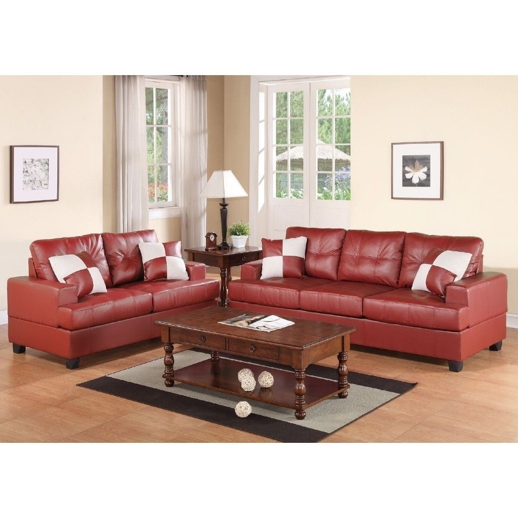 Charter 2-Pcs Sofa Set (Red) | Products | Pinterest | Sofa Set And with regard to Tenny Cognac 2 Piece Right Facing Chaise Sectionals With 2 Headrest