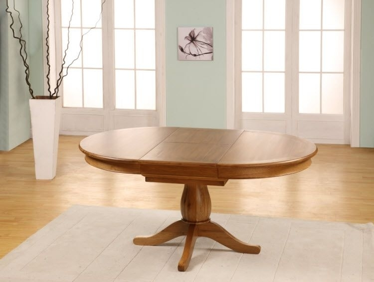 Chateau Oak Round To Oval Extending Dining Table – 1150 1650Mm Pertaining To Round Dining Tables Extends To Oval (Image 2 of 25)
