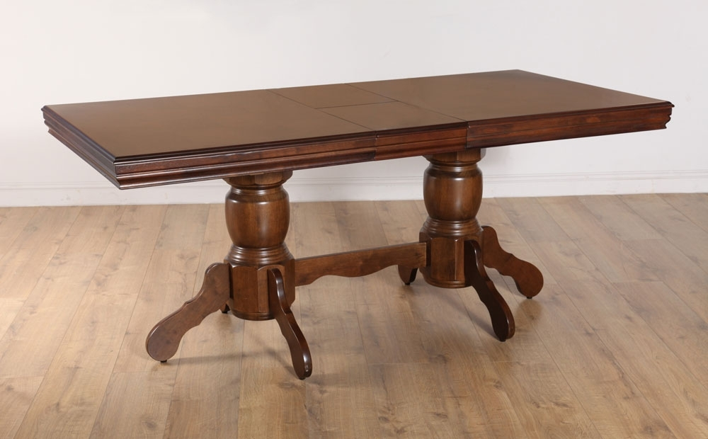 Chatsworth Extending Dark Wood Dining Room Table 150 180 | Ebay Within Chatsworth Dining Tables (Image 5 of 25)
