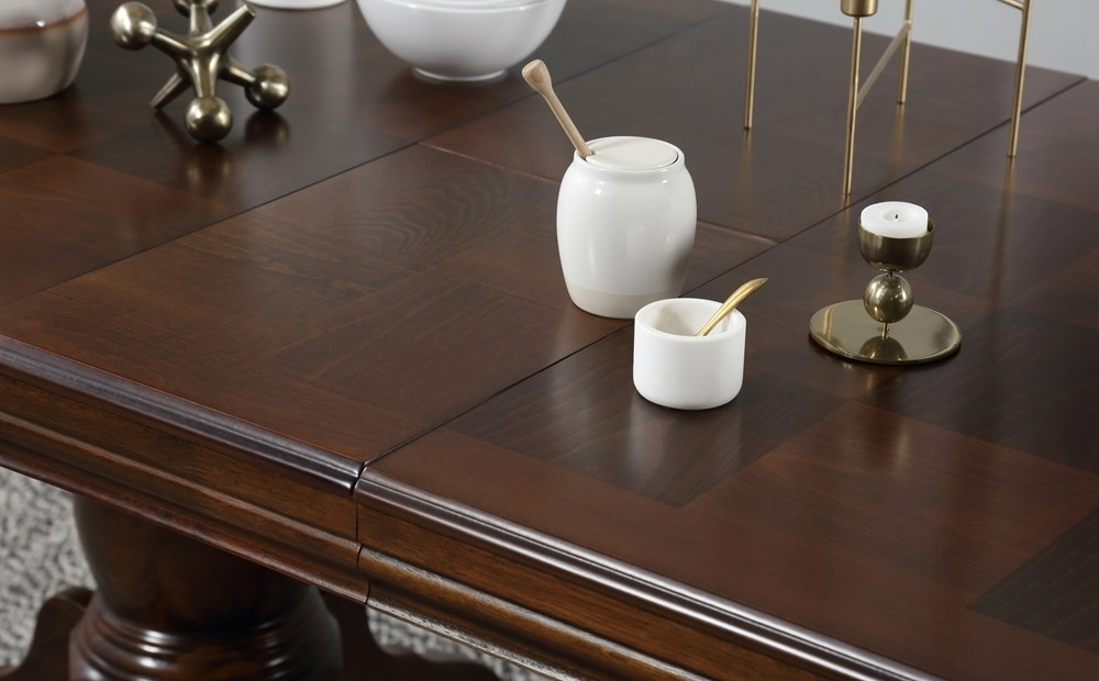 Chatsworth Extending Dark Wood Dining Table And 6 Java Chairs Set Regarding Chatsworth Dining Tables (Image 7 of 25)