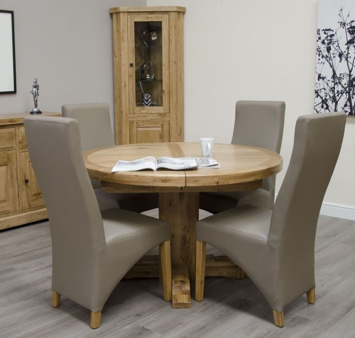 Chatsworth Oak Round Extending Table In Chatsworth Dining Tables (Image 11 of 25)