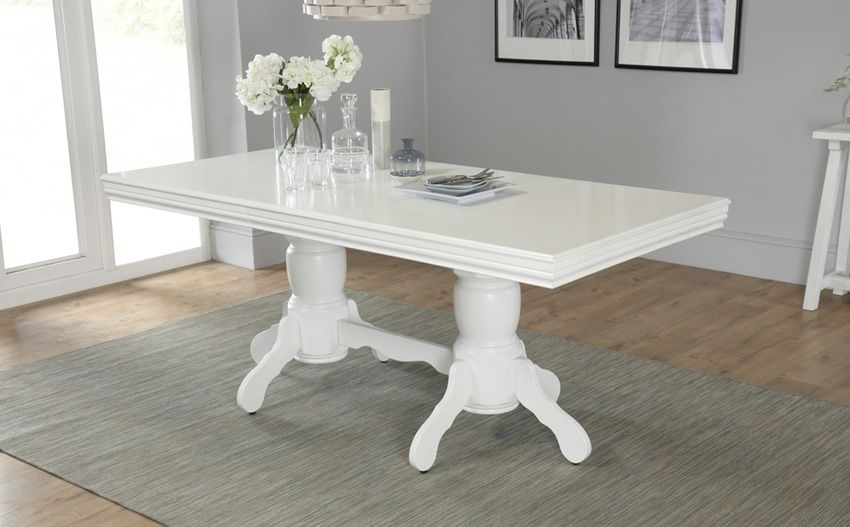 Chatsworth White Extending Dining Table – 150 – 180Cm | House Ideas In White Extendable Dining Tables (Image 4 of 25)