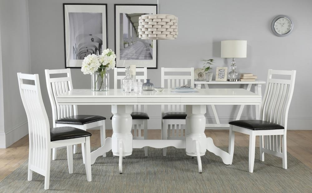 Chatsworth White Extending Dining Table With 4 Java Chairs Only With Chatsworth Dining Tables (Image 15 of 25)
