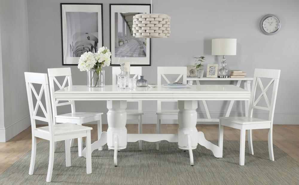 Chatsworth White Extending Dining Table With 6 Kendal Chairs Only Pertaining To Chatsworth Dining Tables (Image 18 of 25)