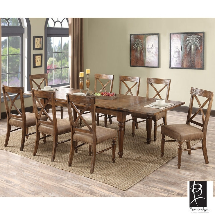 Chattanooga Extending Dining Room Table + 8 Chairs | Costco Uk Inside Extending Dining Room Tables And Chairs (Image 7 of 25)