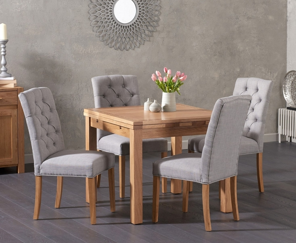 Cheadle 90Cm Oak Extending Dining Table With Candice Chairs | The Pertaining To Candice Ii 6 Piece Extension Rectangle Dining Sets (Image 6 of 25)
