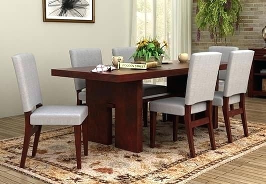 Cheap 6 Seater Dining Table And Chairs Tables Round Interior Design In 6 Seat Dining Tables (View 18 of 25)