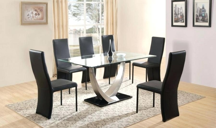 Cheap Dining Table With 6 Chairs Dining Room Miraculous 6 Dining In Black Glass Dining Tables 6 Chairs (Image 12 of 25)