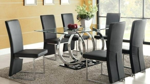 Cheap Dining Table With 6 Chairs Dining Room Miraculous 6 Dining Within Black Glass Dining Tables With 6 Chairs (Image 10 of 25)