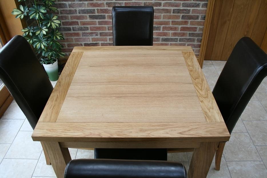 Cheap Dining Tables And Chairs From Oakdiningsets Pertaining To Square Oak Dining Tables (Image 7 of 25)
