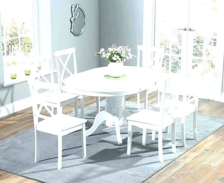 Cheap Extending Dining Table And Chairs Full Size Of Round White Inside White Round Extending Dining Tables (Image 5 of 25)