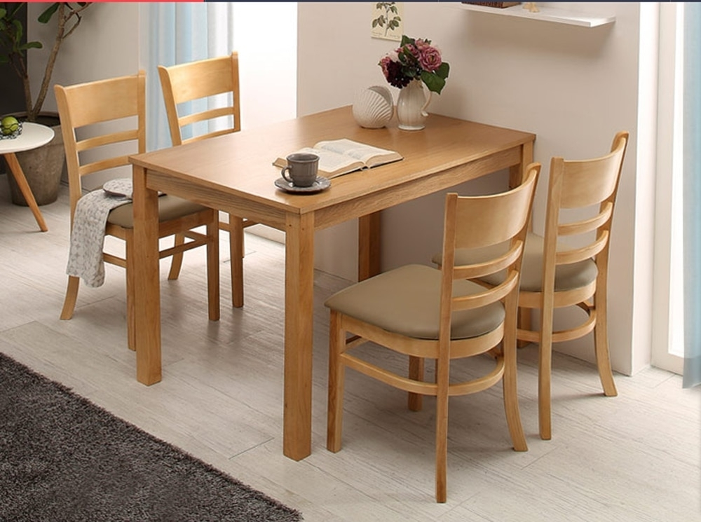 Cheap Four Tables And One Chair Wood Color Oak Dining Table Dinette Intended For Cheap Oak Dining Tables (Image 5 of 25)