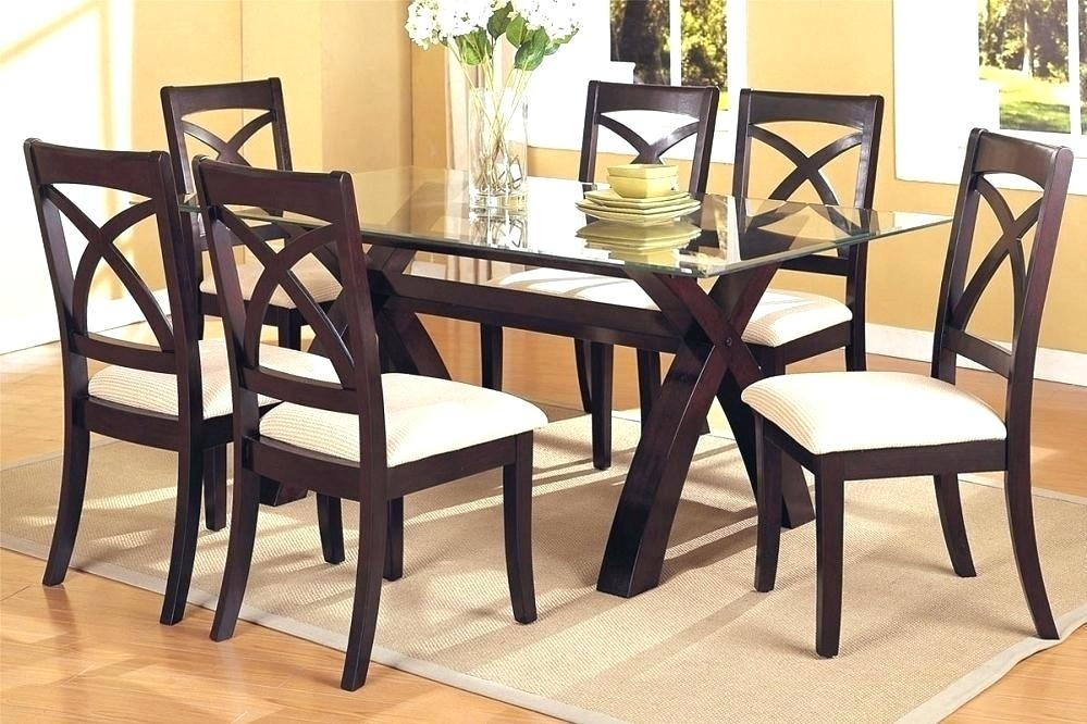 Cheap Glass Dining Table Sets Small For 4 Furniture Round And Chairs Intended For Cheap Glass Dining Tables And 6 Chairs (Image 12 of 25)