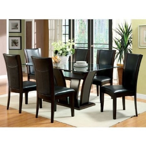 Cheap Glass Top Dining Table Canada, Find Glass Top Dining Table Throughout Delfina 7 Piece Dining Sets (Image 4 of 25)
